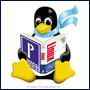 Penguin with book
